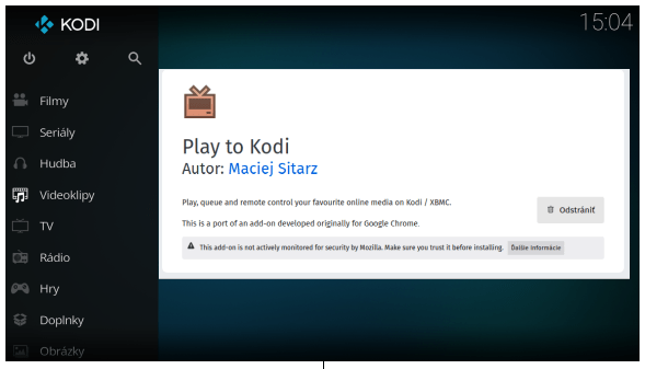 Play to Kodi