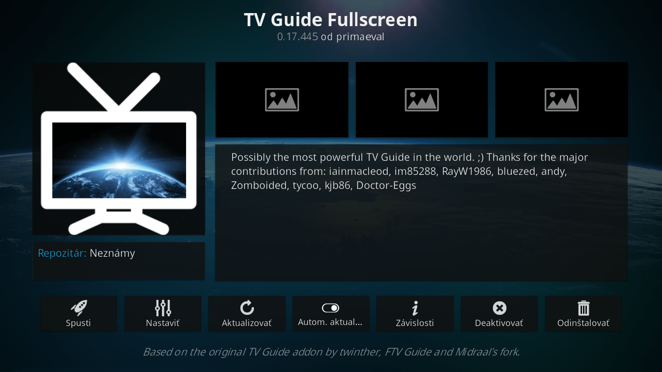 TV Guide Fullscreen