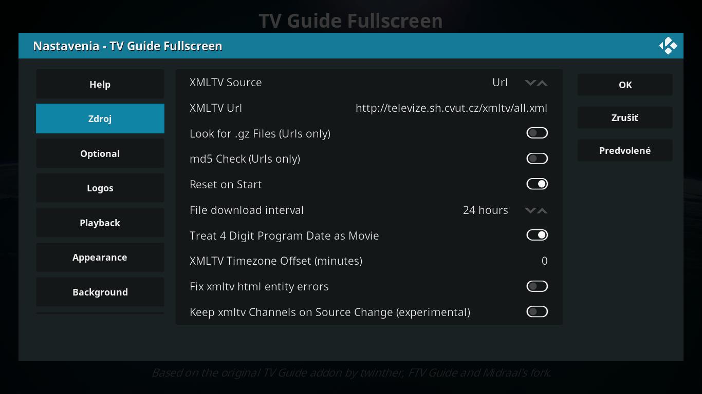Setup XMLTV